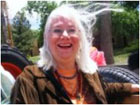 Clickable Image: Linda at the Hippie parade in Taos, New Mexico