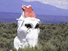 Clickable Image: Carson Estates, Three Peaks elephant statue made of papier mache