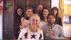 Clickable Image: Linda and friends at her birthday party 2003
