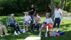Clickable Image: Family gathering in Massachusetts at Linda's brother's house for Father's Day