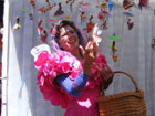 Clickable Image: Woman dressed as a fairy in Santa Fe, New Mexico