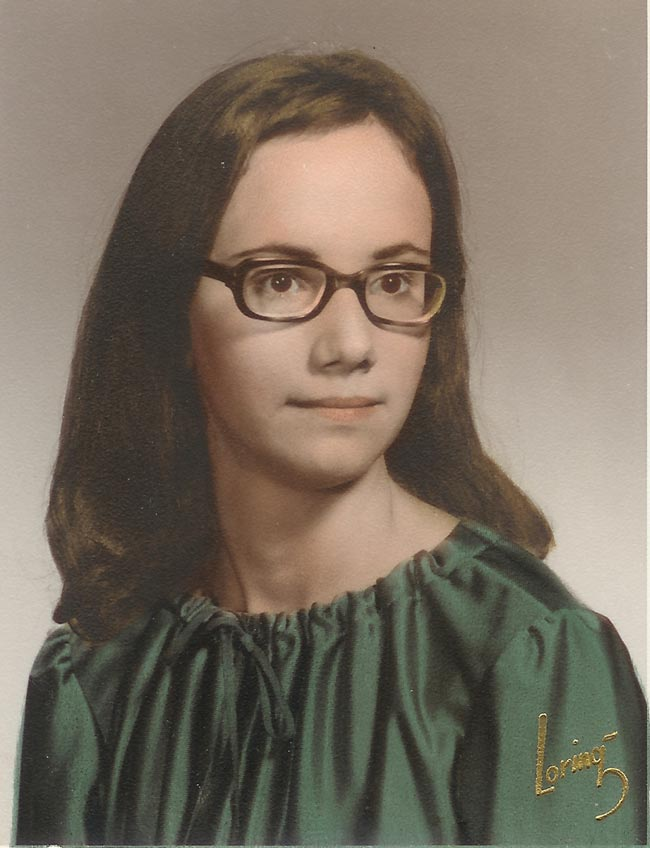 Image: Teenage girl in high school graduation picture in 1969