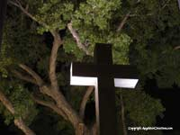 Image: Cross with Trees, Taos Plaza summer 2005